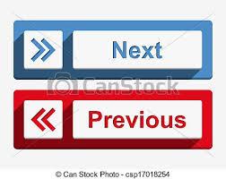 Next and previous buttons. Next and previous buttons, flat design ...