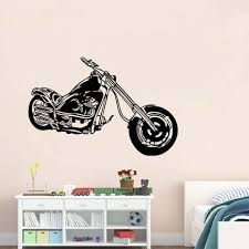 Cool Design Motorcycle Vinyl Wall Stickers Vintage Poster Wall Art Self  Adhesive Wall Decals Home Decor For Boy's Room-in Wall Stickers from Home &  Garden ...