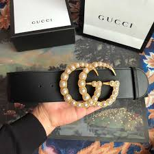 gucci leather belt with pearl double g buckle dopestkickz