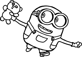 The minions coloring page shows dave running with a banana in one hand and apple in another. Nice Bob Minions Movie 2015 Coloring Page Minion Coloring Pages Minions Coloring Pages Cute Coloring Pages