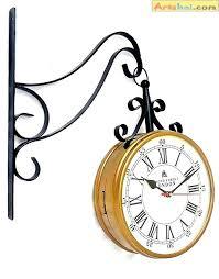 8 inch wall clock metal station clock 8 inch station clock with quality side clock 8 inch wall clock