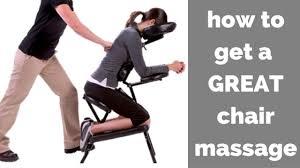 chair massage. chair massage