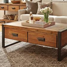 decorating coffee table storage industrial storage side table low