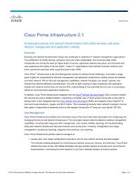 Cisco Validated Design Collaboration Cisco Prime Infrastructure 2 1