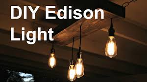 Edison Light Fixtures Canada Amazing Edison Light Fixture D I Y Hanging You Tube Premium