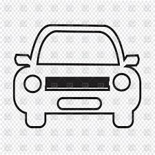car outline front. Brilliant Car Car Outline Front View Vector Image U2013 Artwork Of Transportation   Tumdee 190244 Click To Zoom With Outline Front T