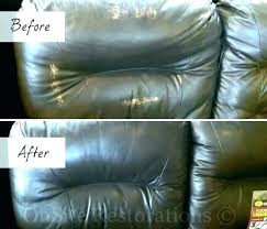 fix leather couch sofa tear how to repair a repairing re ling big hole in