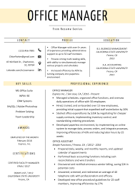 resume example for free 034 office manager resume example template free one page