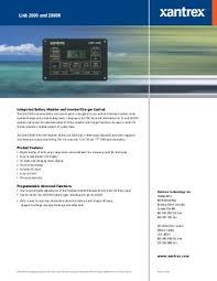 xar digital alternator regulator xantrex link 2000 and 2000r xantrex