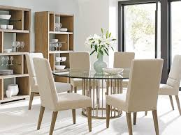 top brands of furniture. Rendezvous Round Dining Table With Glass Top Brands Of Furniture