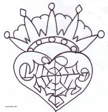 Crown and heart tattoo