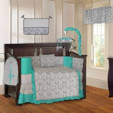 Baby Boy Baby Bedding Sets For Less | Overstock.com & Damask Turquoise 10-piece Crib Bedding Set Adamdwight.com