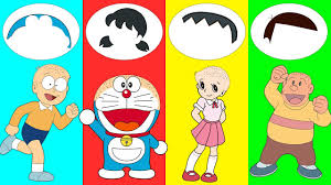 Dyeing your hair is only a few clicks away! Learn Colors Doraemon Hairs Trolls Nobita Xuka Chaien Finger Family Nursery Rhymes Youtube
