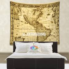 ancient world map wall tapestry vintage hanging new world map wall hanging