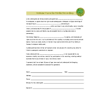Photography Copyright Release Form Template Zakly Info