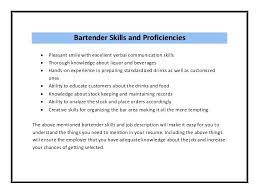 Skills For Bartender Resume Template Resume For Bartender Job Head