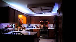 Led Strip Lights In Kitchen Kitchen Cabinets Remote Controlled Led Strip Lighting Youtube