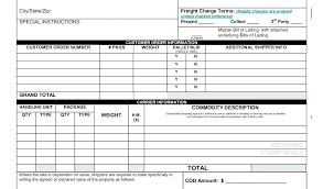 Online Bill Of Lading Form Samples Of Bill Lading Forms Sample Template Printable Form Check