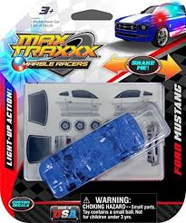 Light Up Marble Racer Max Traxxx Ford Mustang Light Up Marble Tracer Racer Gravity