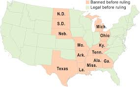 supreme court strikes down state bans on gay marriage com same sex marriage map