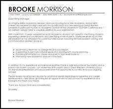 Online Academic Advisor Cover Letter