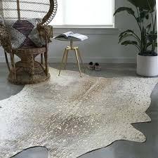faux animal skin rug pewter gold cowhide rugs ikea