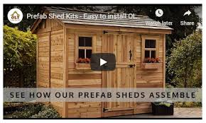 cedar shed kits for outdoor