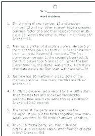 Free Math Word Problem Worksheets 4 3 Multi Step Word Problems Free ...