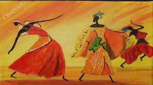 easy dancing african girls acrylic painting for beginners clive5art you