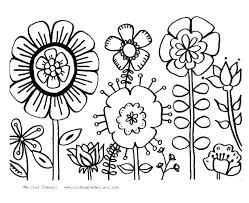 Free Printable Flower Garden Coloring Pages Coloring Page Of Flower