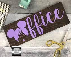 disney office decor. Disney Inspired Office Decor, Sign, Gift, Wood Decor O