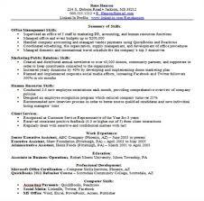 resume skills list