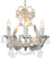 white wrought iron fl crystal chandelier