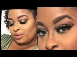 simple makeup look 2018 green look morphe pallet