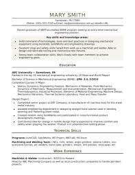 Cv Samples For Engineering Students Cv Examples Student Jobs Sample Resume For An Entry Level Mechanical