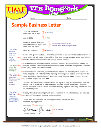 Exandle Business Letter Format For Kids Write Business