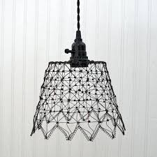 wire pendant light cage french wire cage pendant light