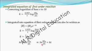 exponational form of integrated rate equation of first order reaction chemical kinetics part 41