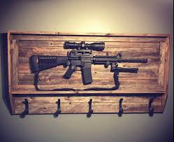 Rifle Coat Rack Rustic Gun Rack Coat Rack Hat Rack Reclaimed Wood Railroad 20