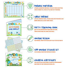 How To Make A Reward Chart For Potty Training Potty Training Chart For Toddlers Reward Your Child Sticker Chart 4 Week Reward Chart Certificate Instruction Booklet And More For Boys And
