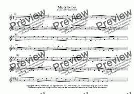 French Horn Scales Finger Chart French Horn Horn In F Scales Entire Range Major Scales Only All Ranges For Solo Instrument Horn In F By Mark Feezell Ph D Sheet Music