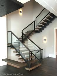 modern stairs and railings custom staircase design mono stringer with boxed  white oak treads stair ideas