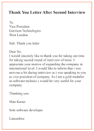 20 Sample Format Of Thank You Letter Template After
