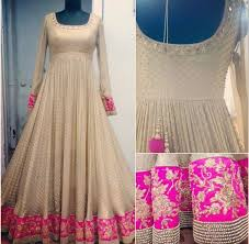 ... latest anarkali outfits with different color combo (2) ...