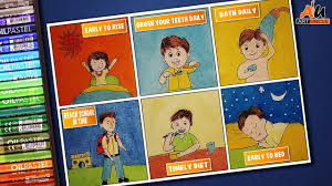 Safety Habits Chart How To Draw Good Habits Daily Activities For Kids Preschool Learning For Kid