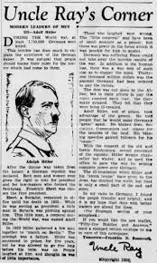 yes adolf hitler really said he would make great again a syndicated column in the 4 1934 green bay press gazette in wisconsin newspapers com
