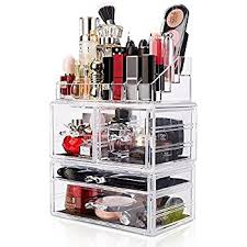 DreamGenius Makeup Organizer Large Capacity Acrylic Cosmetic Storage  Drawers and Jewelry Display Box