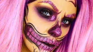 makeup artist s glitter skull look is out of this world photos sheknows