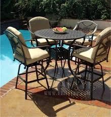 cast aluminum outdoor furniture 5 piece bar table and chair cast aluminum patio furniture garden furniture