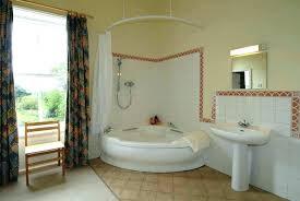 corner garden tub shower to bathroom bath ideas for your small and curtain rail track sh